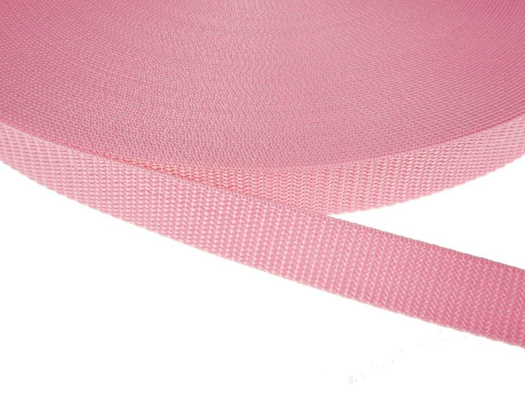 Popruh polypropylénový šíře 20 mm - růžová