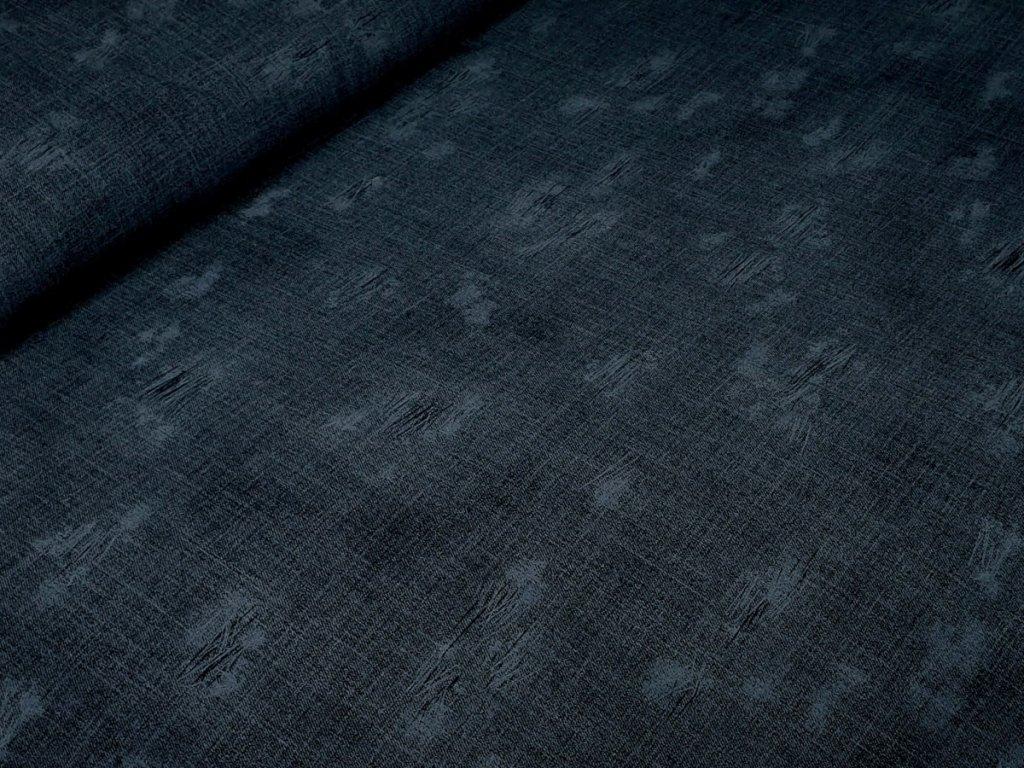 Elastická teplákovina - Jeans s obnošenými efekty