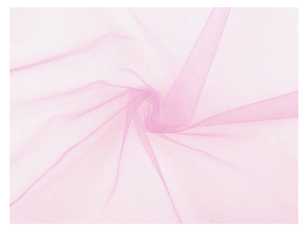 Tyl oděvní na závoje - růžový