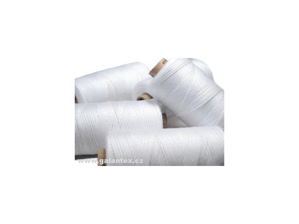 Nitě riflové UNIPOLY 30 návin 200m / 001 - bílá