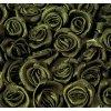 Růžička saténová OE 10-12mm (10 kusů) - khaki