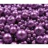 Voskované perly 4-12mm kulička (30g) - fialové
