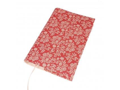 Nastavitelný obal na knihu - Růžičky růžové