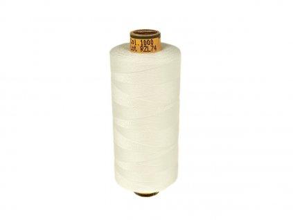 Polyesterová šicí nit Belfil-S 120 1000 m / 1000 - krémově bílá