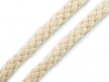 Oděvní šňůra 10-12 mm splétaná - režná