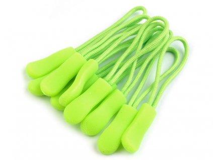 Poutko / taháček na zip - zelená neonová