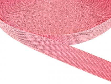 Popruh polypropylénový šíře 30 mm - růžová