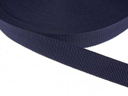 Popruh polypropylénový šíře 30 mm - modrá granát