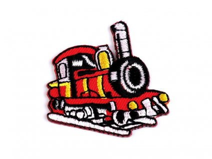 Nažehlovací aplikace - Lokomotiva červená