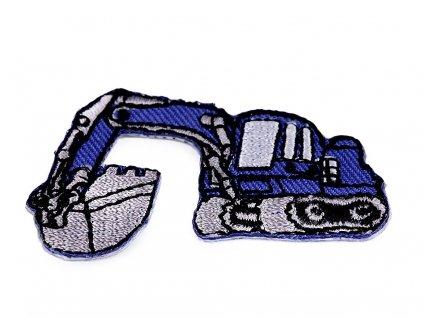 Nažehlovací aplikace - Bagr modrý