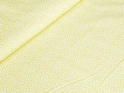 Bavlněné plátno - Rýže na pastelově žluté