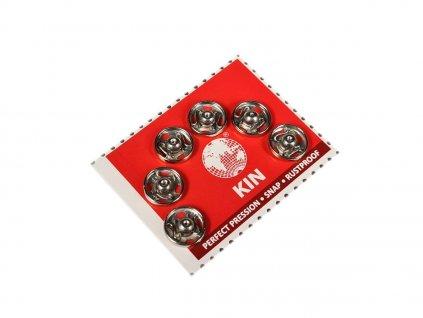 Patentky KIN průměr 10 mm / 6 kusů - stříbrné