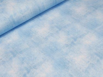 Elastická teplákovina DIGI - světle modrá džínový efekt