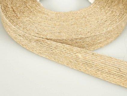 Jutová stuha šíře 18 mm - přírodní