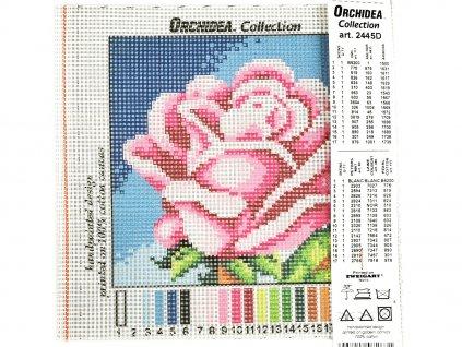 Předloha vyšívací 15 x 15  cm - Růže