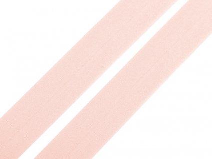 Pruženka lemovací matná šíře 20 mm - růžová světlá