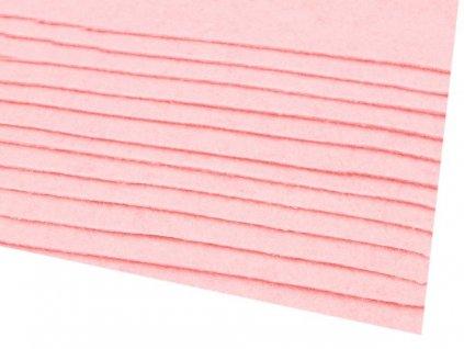 Látková dekorativní plsť 20x30 cm - růžová světlá