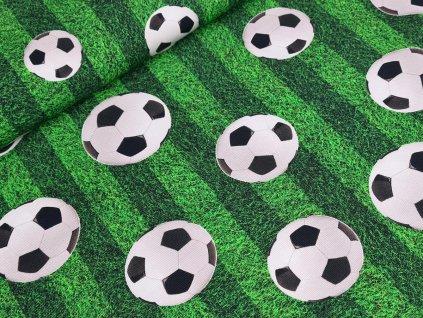 Jednolícní elastický úplet DIGI - Fotbal