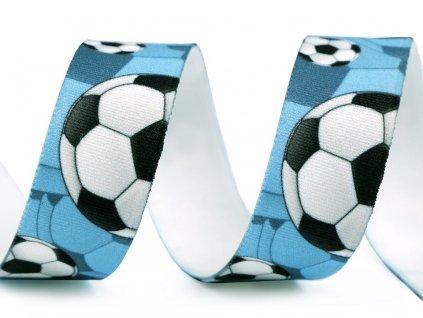 Pruženka s potiskem 25 mm - Fotbal modrá