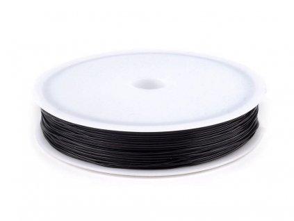 Pruženka / gumička 0,6 mm / 15 metrů - černá