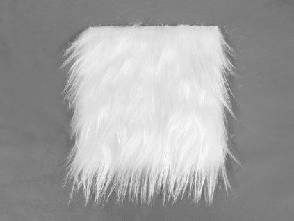 Kožešina 15 x 15 cm - bílá