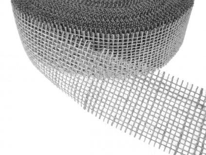 Jutová stuha šíře 40mm - šedá