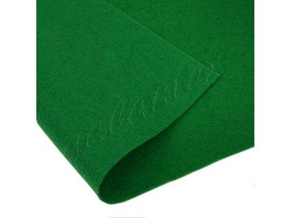 Dekorativní plsť 20x30 cm - zelená tmavá