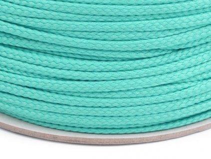 Oděvní šňůra PES 4 mm - akvamarínová