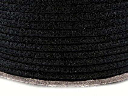 Oděvní šňůra PES 4 mm - černá