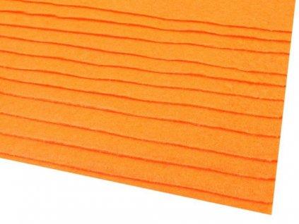 Látková dekorativní plsť 20x30cm - oranžová