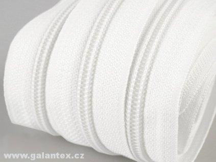 Zip spirálový 3 mm metráž - bílý