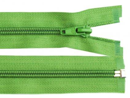 Zip spirálový dělitelný 5 mm / 45 cm - zelený