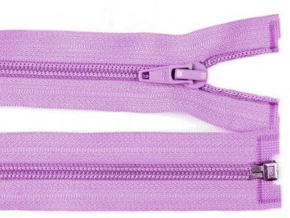 Zip spirálový dělitelný 5 mm / 45 cm - fialový světlý