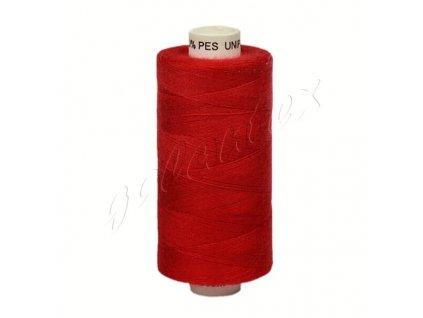 Šicí nit Unipoly 120 návin 500 m / 337 - tmavě červená