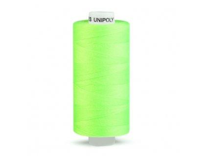 Šicí nit Unipoly 120 návin 500 m / 612 - zelená neonová