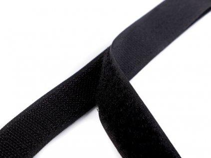 Suchý zip šíře 20 mm komplet - černý