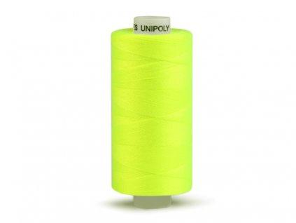 Šicí nit Unipoly 120 návin 500 m / 115 - žlutozelená neonová
