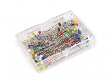 Špendlíky se skleněnou hlavičkou 0,5 x 35 mm - 10g