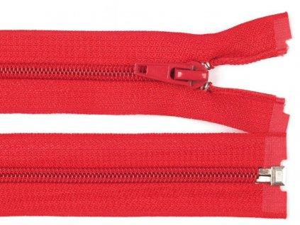 Zip spirálový dělitelný 6 mm / 35 cm - červený