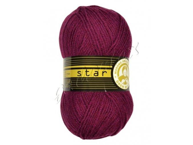 Pletací příze Star / 052 - tm. cyklámen