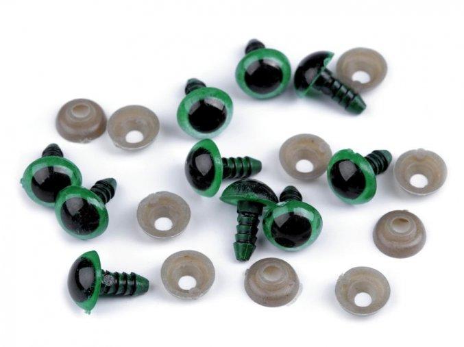 Bezpečnostní oči 10 mm - zelené