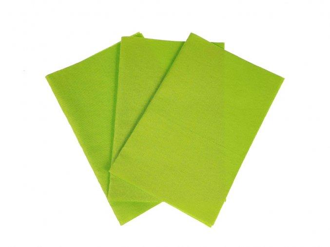 Zažehlovací záplaty plátno - žlutozelená