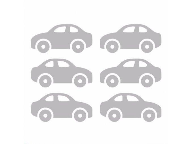 Reflexní nažehlovací potisk - auto sedan (6 kusů)