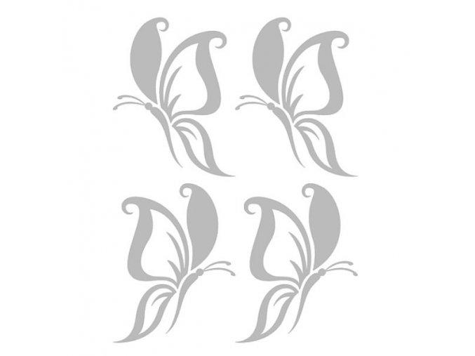 Reflexní nažehlovací potisk - motýl (4 kusy)
