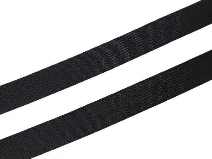 Pruženka plochá pletená 20 mm - černá