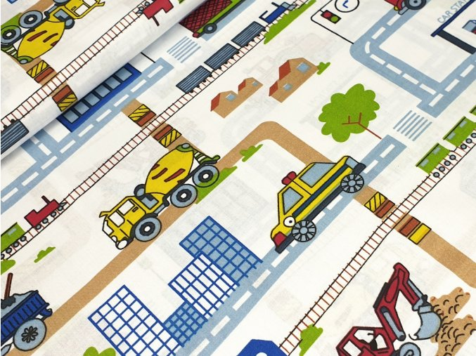Bavlněné plátno - Silnice na bílé