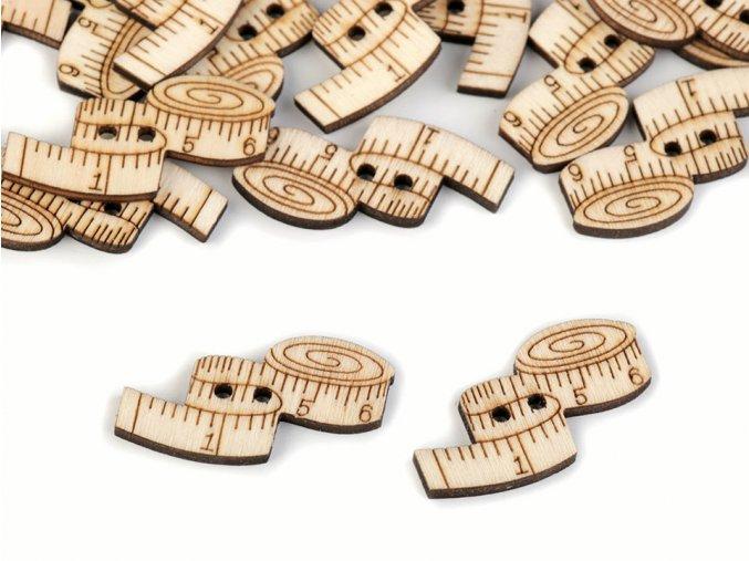 Knoflík dřevěný - Metr