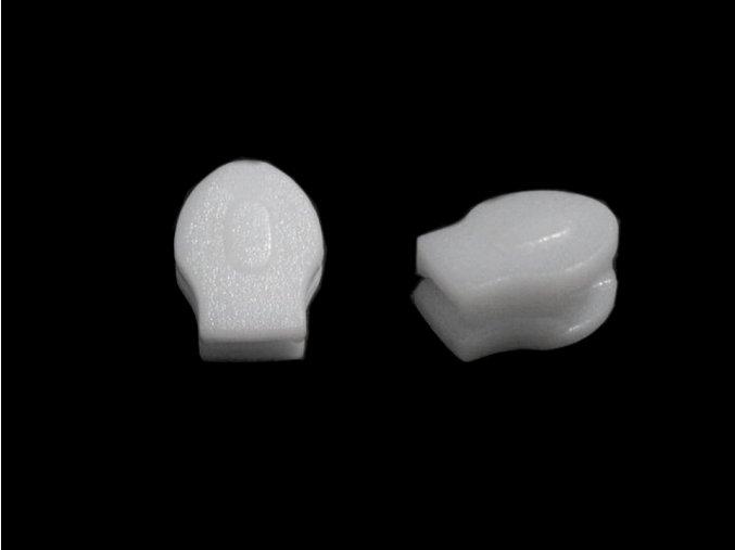 Jezdec ke spirálovým zipům 3 mm - bílý (plast)
