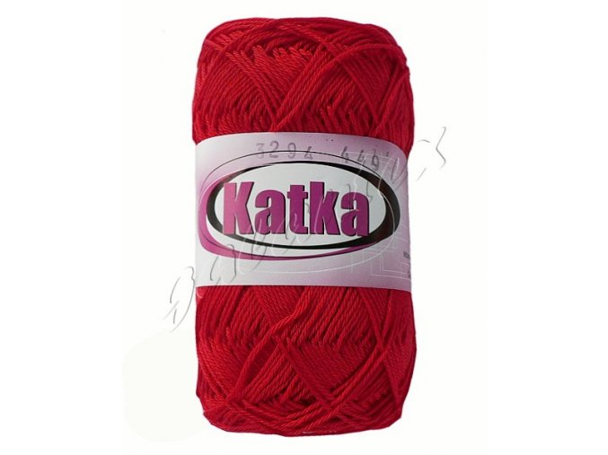 Pletací příze Katka / 3294 - červená