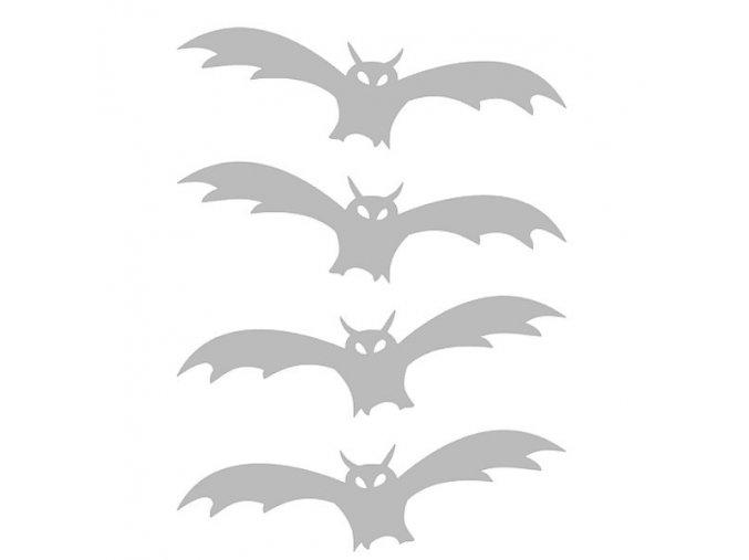 Reflexní nažehlovací potisk - netopýr (4 kusy)